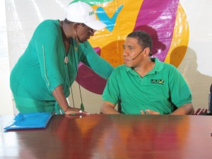 Babsy Grange talks to Andrew Holness before our interview