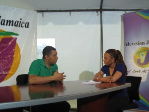 Interviewing JLP Leader Andrew Holness