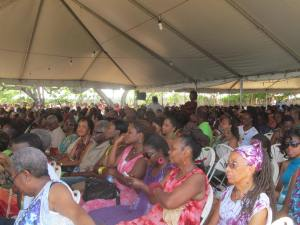 An appreciative Calabash audience listening to Jamaica Kincaid  Photo by DJ Miller