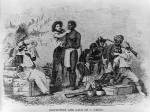 The Inspection and sale of a slave  Image from Wikipedia