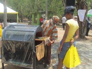 Solar Dryer Demonstration DJ Miller Photo